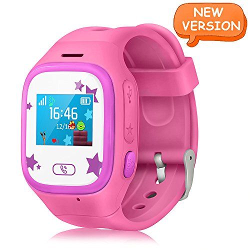 WitMoving Smart Watch Kids GPS Tracker Watch Touch Screen Childrens Smart Watch Phone Sim Anti Lost SOS Wrist Watch Parent Control By IPhone IOS Android Smartphone For Boys Girls