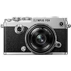 Olympus PEN-F Appareil photo hybride - Argent + Objectif 17 mm 1.8 - Noir