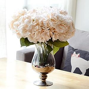 LianLe – Ramo de flores de 5 hortensias artificiales, objeto decorativo sin jarrón.