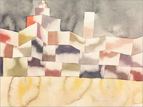 Posterlounge Acrylglasbild 120 x 90 cm: Architektur im Orient von Paul Klee/akg-Images - Wandbild, Acryl Glasbild, Druck auf Acryl Glas Bild