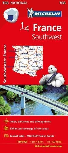 Mapa. France Southwest 11708 (15) (Mapas National Michelin)