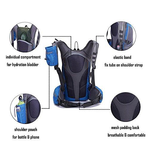 ZCL leichter Wanderrucksack 25L Daypack für Blase Pack Camping Radfahren Bergsteigen Schule Hell grün