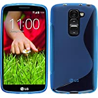 Funda de silicona para LG G2 mini - S-Style azul - Cover PhoneNatic Cubierta + protector de pantalla
