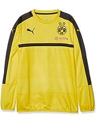 Puma BVB - Sudadera deportiva para niño (del equipo Borussia Dortmund), otoño/invierno, infantil, color amarillo/negro, tamaño 15 años (164 cm)