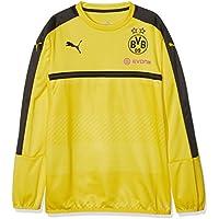 Puma - Sudadera Deportiva para niño con patrocinador del Equipo de fútbol Borussia Dortmund, Infantil, Color Amarillo/Negro, tamaño 164