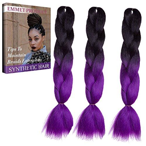 Zu Einfach Kostüme Machen (Jumbo Braids-Premium Qualität 100% Kanekalon Braiding Haarverlängerung Full Bundles 100g / pc Synthetik Haar Ombre 24Inch 3Pcs / lot Hitzebeständig, lange Zeit mit-37 Farben 2Tone & 3Tone, Garantie 1 Woche)