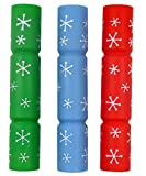 3 PACK GOODBOY LARGE SQUEAKY 30CM CHRISTMAS CRACKERS VINYL DOG TOY