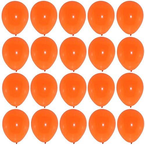 P&S events 50 Premium Luftballons orange Markenqualität Helium Ballongas geeignet Naturlatex 100% giftfrei Geburtstagsparty Hochzeit Partyballon Halloween