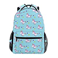 COOSUN Cute Watercolor Unicorn Casual Backpack School Bag Travel Daypack