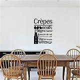 stickers muraux cuisine carrelage recette'Crêpes & quot;