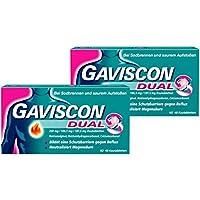 Sparset Gaviscon Dual 250 mg - 106,5 mg - 187,5 mg 2 x 48 Kautabletten preisvergleich bei billige-tabletten.eu