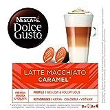 NESCAFÉ Dolce Gusto Café Latte Macchiato Caramel, Pack de 3 x 16 Cápsulas - Total: 48 Cápsulas de Café