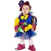 VENEZIANO Novidea Costume Vestito Carnevale Bambina Baby Pagliacetta 6 12  18 24 Mesi 1 2 Anni 70452d3d441