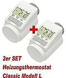 "2er Set - Heizkörper-Thermostat Classic ""L"" mit Boost-Funktion +++ neues leises Model"