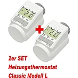 "2er Set - Heizkörper-Thermostat Classic ""L"" mit Boost-Funktion +++ neues leises Model"