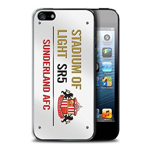 Officiel Sunderland AFC Coque / Etui pour Apple iPhone SE / Pack 6pcs Design / SAFC Stadium of Light Signe Collection Blanc/Or
