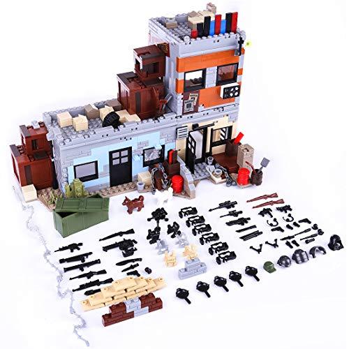 12che Militär Minifigur Set WW2 Minifiguren Militärgebäude Kit Waffe Zubehör für Lego - Lego Militär Set