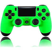 eXtremeRate® Neon Green Soft Touch Grip Front Shell Placa Frontal para Playstation 4 PS4 Slim PS4 Pro Controller JDM-040