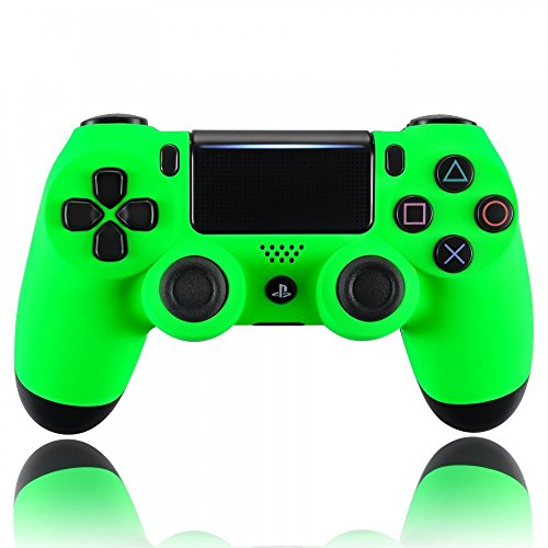 eXtremeRate® Neon Green Soft Touch Grip Front Shell Placa Frontal para Playstation 4 PS4 Slim PS4 Pro Controller (Modelo CUH-ZCT2)
