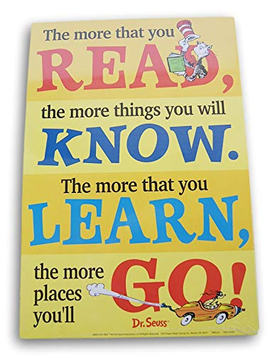 Classroom Decor Dr. Seuss 2-seitiges Lese-Poster - The More You Read/Think Left and Think Right (Dr. Seuss Poster)