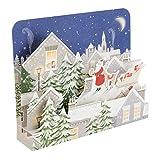 Hallmark 25501737lusso pop up biglietto di Natale'Babbo Natale–Confezione da 5biglietti, 1design