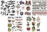 Pack Of 40+ Designs Fake Pretend Temporary Childrens Tattoos For Boys