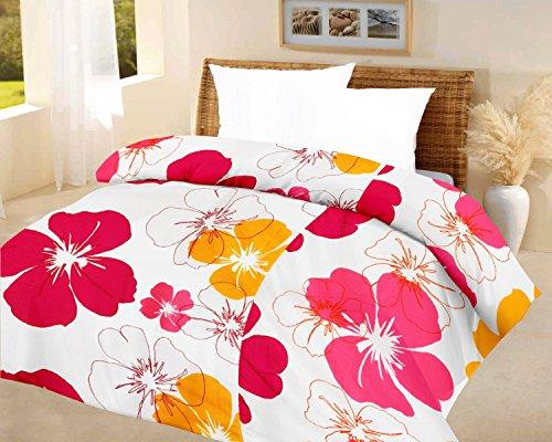 Lali prints Big Floral quilt Blue A.C Blanket Double bed...