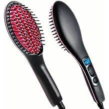 szsyr-hair rodillo de cabello peine cepillo de pelo eléctrico climatizada  redondo planchas varita cepillo de ... 3ea6f0e87948