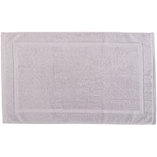 AM Home Fashion Luxury Combed Cotton Bath Mat 21-Inch x 29-Inch, 2-pack (Gray)