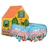 Vplay 2in1 Kinder Bällebad Zelt Babys Spielzelt Groß Spielraum