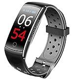 shouhuan Smart Health Armband Genaue Messung des Blutdrucks Herzfrequenz Schlaf Sport Bluetooth Armband 2 Strap (Farbe : Black)