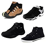 #5: Tempo Men's Combo Pack of 4 Sneakers (DLX/Dangle BLK/BXR/TRK-71 BLK)