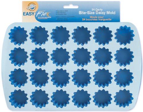 Wilton easy-flex Silikon bite-size mold-24Hohlraum, Daisy 1,75x .675-inch, andere, mehrfarbig Wilton Daisy