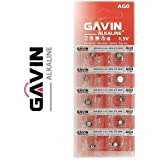10 x AG0 Gavin Pilas botón 1,5 V, L521, LR50, 379, SR40