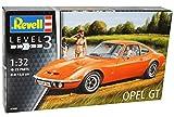 Opel GT 1900 Coupe Rot Orange 1968-1973 07680 Bausatz Kit 1/32 Revell Modell Auto mit individiuellem Wunschkennzeichen