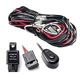 LED HID Driving Kabelbaum Kit Nebel Arbeitsscheinwerfer Draht Set mit Schalter Relais (Farbe: schwarz-rot)