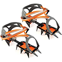 Docooler 14-point Manganese Steel Climbing Gear Crampons Ice Grippers Crampon Traction Device Mountaineering Glacier Travel Ice Waiking