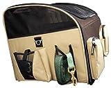 Valentina Valentti Luxus-Transporttasche für Hunde, zum Transport auf dem Autositz, groß, Braun