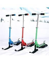 ALUK- Dual-ski, planche à neige Fer Patinage voiture ( couleur : Rouge )