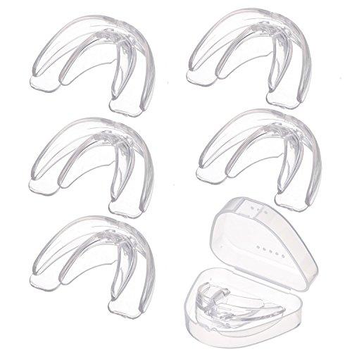 BBTO 5 Packung Mundschutz Zahnschutz Dental Guard Zähne Retainer mit tragbaren Fall für Zähne Schleifen, Bruxismus, TMJ, und beseitigt Zähne Clenching (Clear)