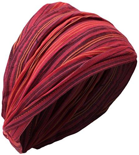 little-kathmandu-cotton-elastic-hippie-bohemian-bandana-headband-striped-red