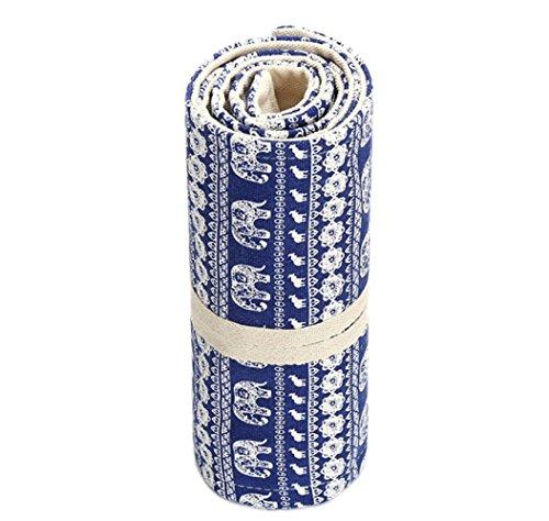 Katara 1786 - Astuccio Arrotolabile Porta Penne Matite Colorate Pennarelli Roll-up Portapenne Portamatite di Tela per Scuola o Ufficio per Bambini e Adulti