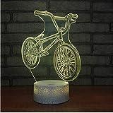 3D LED Nachtlicht Neue Fahrrad Nachtlicht Usb Stromversorgung Farbe Fernbedienung 3D Visuelle Lampe Kreative Geschenk Anpassung 3D Leuchten