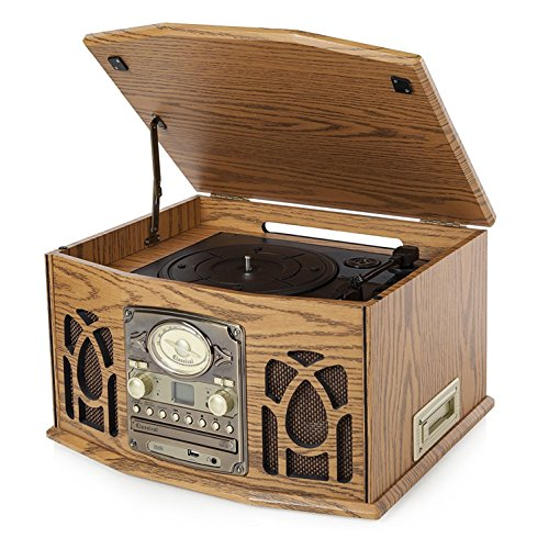 Itek I60011 Antique Record, CD, Cassette and Radio Player, 4-in-1 Test