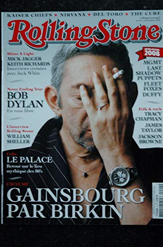 ROLLING STONE 004 T 01024 Cover Gainsbourg Birkin Dylan Mick Jagger William Sheller Nirvana The Cure (Magazin-cover Stone Rolling)