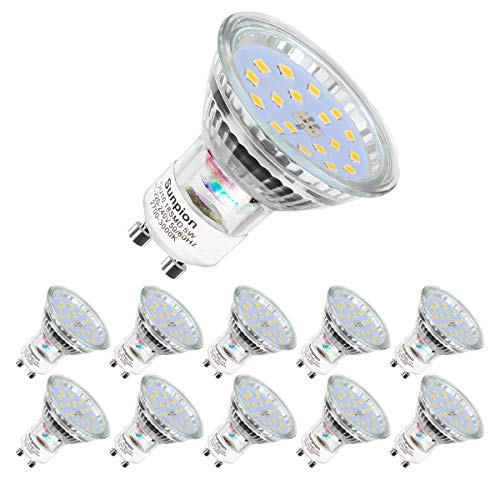 GU10 LED Warmweiss | led lampe | MR16 Warmweiß(2700 Kelvin) | 600 Lumen | LED ReflektorLampe | led Birne | 5W ersetzt 60W Watt Halogen| LED Leuchtmittel| 10er Pack