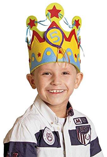Folat Kinder-Geburtstags-Krone für Jungs mit auswechselbaren Zahlen von 1 - -