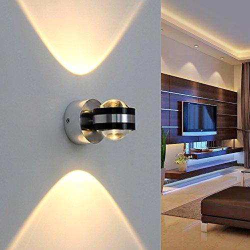 Auralum® Hochwertig 2W 200LM LED Wandleuchte Warmweiss 2800-3200K