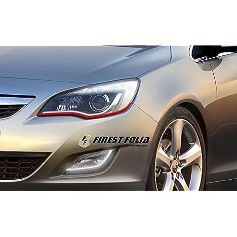 Devil Eye Style protector de pantalla de Finest Folia Stripe Faro para Opel Astra H J K I G Corsa S D C OPC