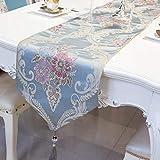 Tischfahne - Tischdecke, Heimtextilien Aus Stoff, Amerikanische Europäische Art, TV-Schrank Couchtisch Tischdecke Einfache, Moderne Minimalistische Mode Tischdecke (Farbe : Blau)